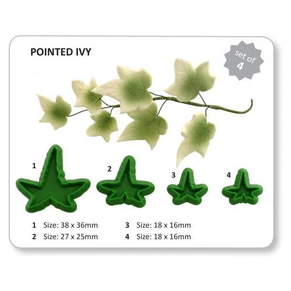 Ivy - Pointed, set of 4 (L7) - Jem Cutters