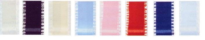 "Feather Edge Double Face Satin Ribbon - 9mm (3/8"")"