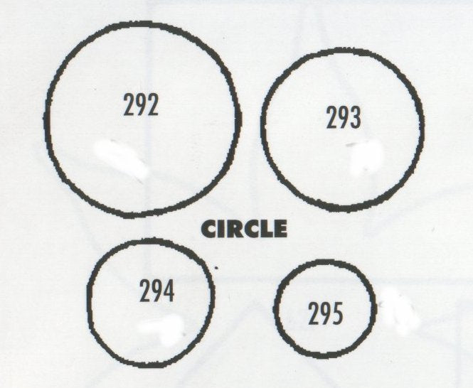 Circles - set of 4 292/293/294/295 (22mm, 18mm, 15mm, 10mm) TinkerTech Two Cutters