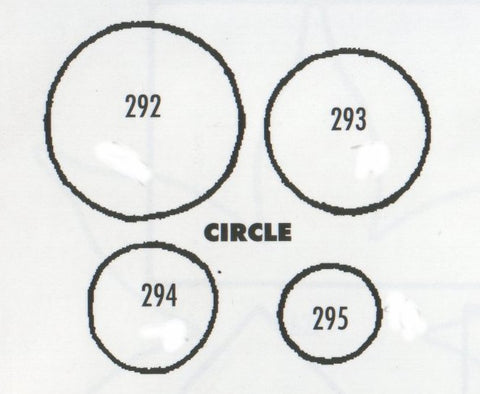 TinkerTech Two Cutters - Circles - set of 4 292/293/294/295 (22mm, 18mm, 15mm, 10mm)
