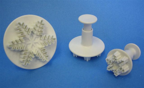 PME Cutters - Snowflake plunger Cutters Set of 3.