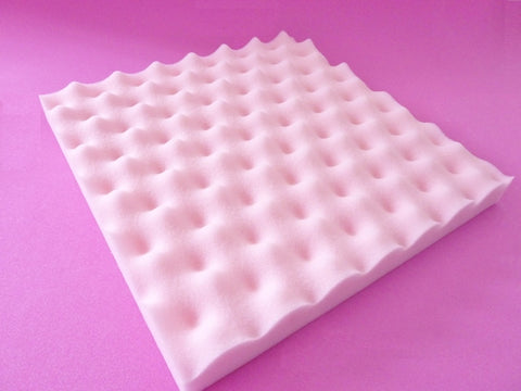 "Dimpled Foam 12"" square Pink  (Large Cavity) Pullinger"