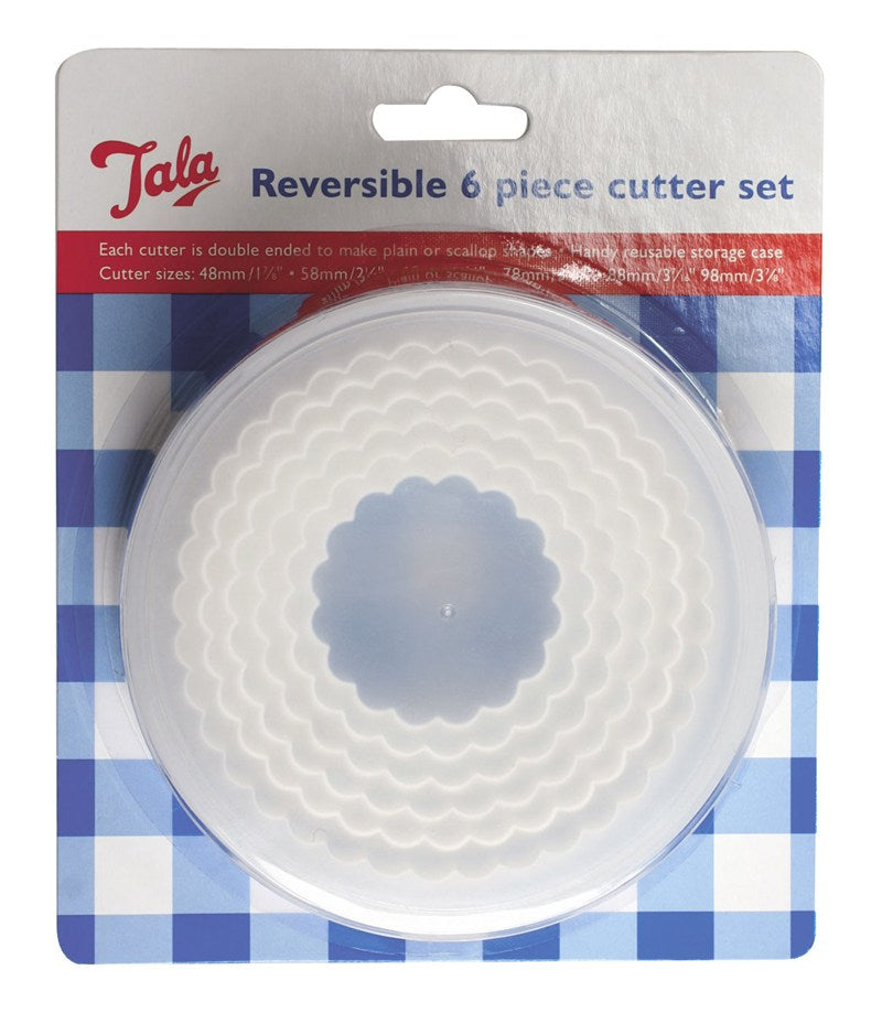 Tala Plain/Crinkled Reversable Cutters