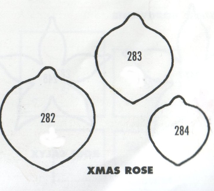 Christmas Rose   - set of 3 282/283/284 (30mm, 25mm, 20mm).  TinkerTech Two Cutters