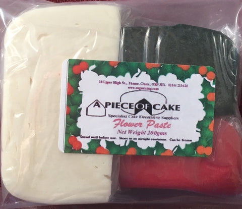 A Piece of Cake Flower Paste - (Gumpaste) Christmas Multi pack
