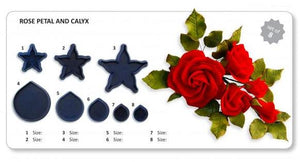 Rose Petals & Calyx set of 8 (A10). Jem Cutters