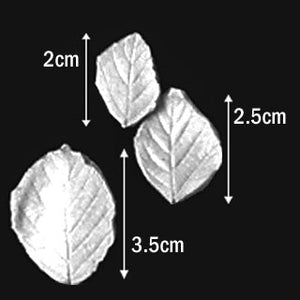 Great Impressions (SK) Leaf Veiners - Blackberry - set of 3 3.5cm/2.5cm/2cm.  GM01B006-02