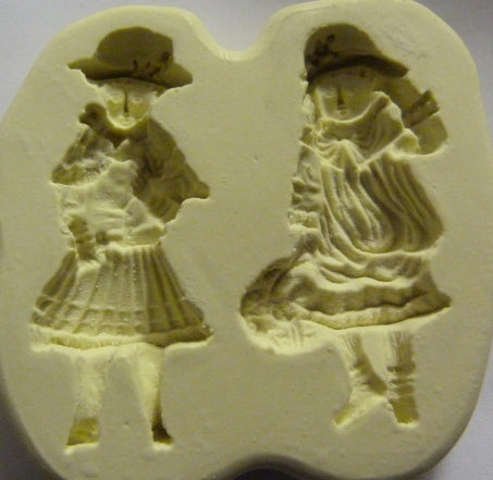 Diamond Paste Moulds - Victorian Flower Girls