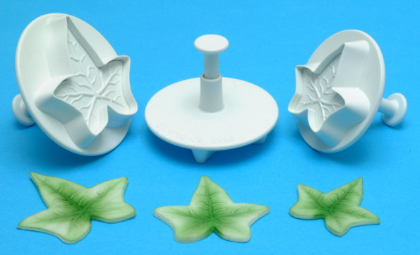 Ivy -  Veined Leaf Plunger Cutter.  XL set of 3 - (43mm, 50mm, 57mm) PME Cutters