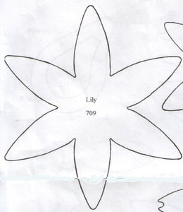 Lily 6 Petal 709 (127mm).  TinkerTech Two Cutters