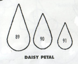Daisy Single Petals - set of 3 89/90/91 (30mm, 25mm, 17mm).  TinkerTech Two Cutters