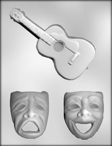 Comedy/Tragedy Masks and Guitar.