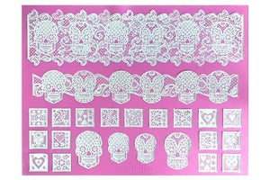 Claire Bowman Lace Mat - Day of the Dead