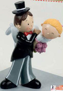 Wedding Topper - Bride and Groom (Firemans Carry)  SALE