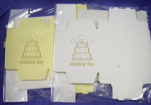 Wedding Cake Box - Wedding Cake Design.  Pack of 10