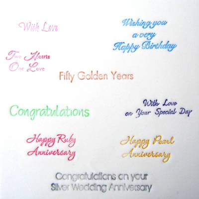 Patchwork Cutters - Celebration Lettering - Wedding Anniversary/Birthday.
