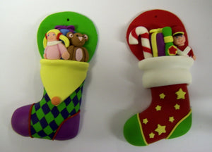 Christmas Stocking - Claydough. 70mm