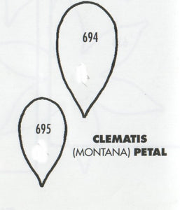 Clematis Montana Petal - set of 2 694/695 (32mm, 25mm).  TinkerTech Two Cutters