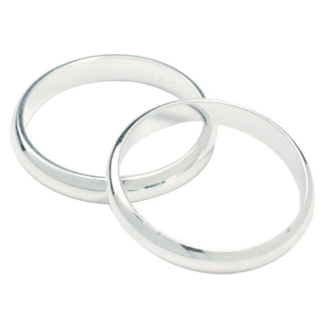 Wedding Ring Silver Colour