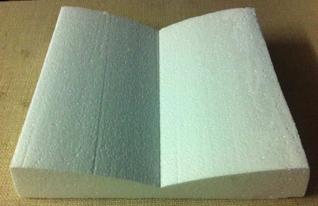 "Polystyrene Dummy - Open Book  14"" long"