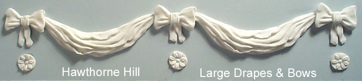 Hawthorne Hill Moulds - Drape and Bow 126mm