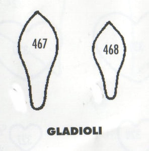 Gladioli - set of 2 467/468 (27mm, 20mm).  TinkerTech Two Cutters