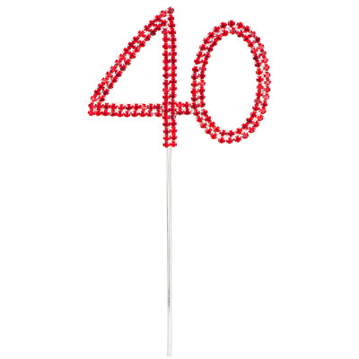 Diamante Number 40 RED