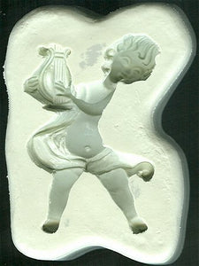 Diamond Paste Moulds - Musical Cherub with Harp - Large 58mm high