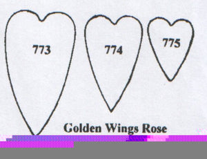 Rose Golden Wings 773/774/775 (45mm, 35mm, 20mm)  TinkerTech Two Cutters