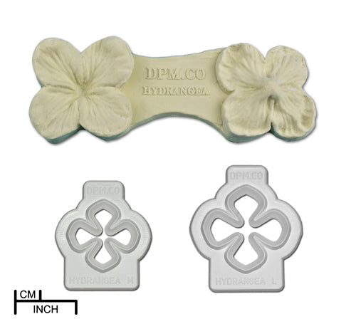 Diamond Paste Mould and Cutter - Hydrangea