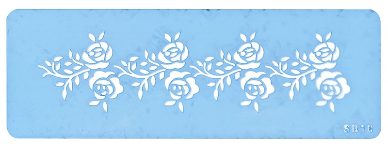 Jem Stencils - Rose Frieze Border 165 X42mm