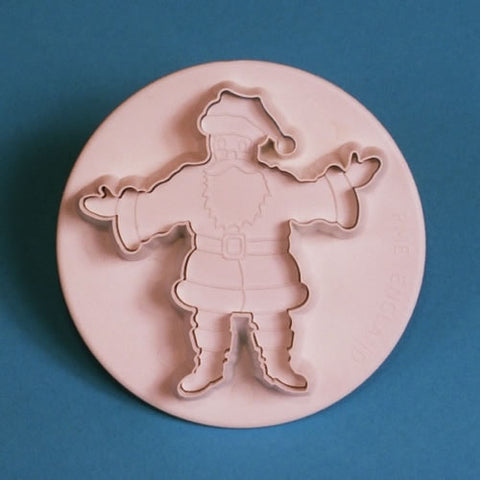 PME Cutters - Father Christmas with embosser Medium 55mm
