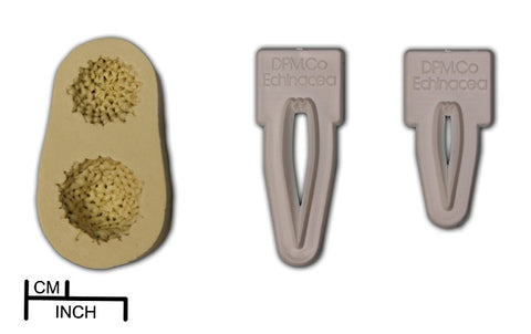 Diamond Paste  Cutter, veiner and  Mould - Echinacea petal and Seed Pod