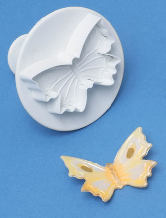 PME Cutters - Butterfly. Veined Plunger Cutter.  Medium 45mm