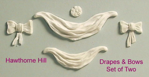 Hawthorne Hill Moulds - Drapes & Bows Small set of 2