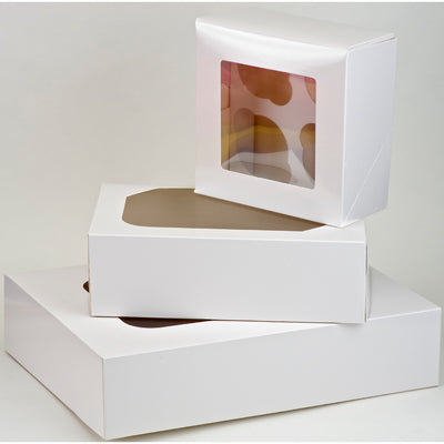 Muffin Boxes - White.  4's - Pack of 2