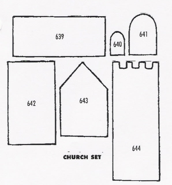TinkerTech Two Cutters - Church 639 to 644 (60mm x 47mm)