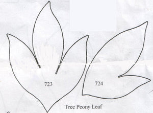 Tree Peony Leaf 723/724 (83mm, 72mm) - TinkerTech Two Cutters