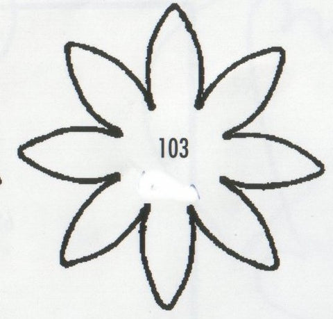Daisy 8 Petal Pointed 103 (40mm).  TinkerTech Two Cutters