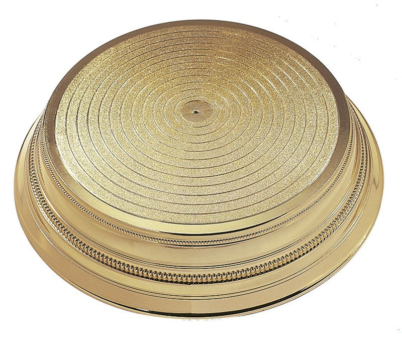 Beaded Design (Napier) Plastic Stand - Round Gold