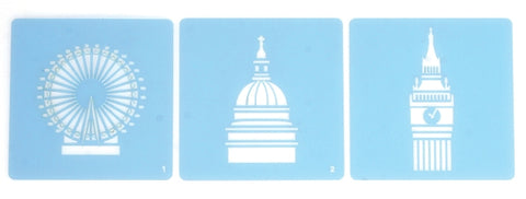 Stencils - London set of 3  SALE