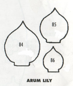 Arum (Calla) Lily - set of 3 84/85/86 (30mm, 25mm, 17mm).  TinkerTech Two Cutters