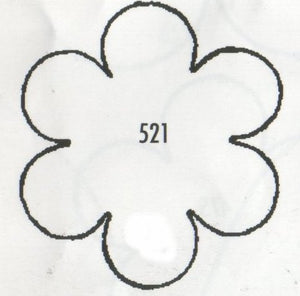 Blossom 6 Petalled 521 (40mm).  TinkerTech Two Cutters