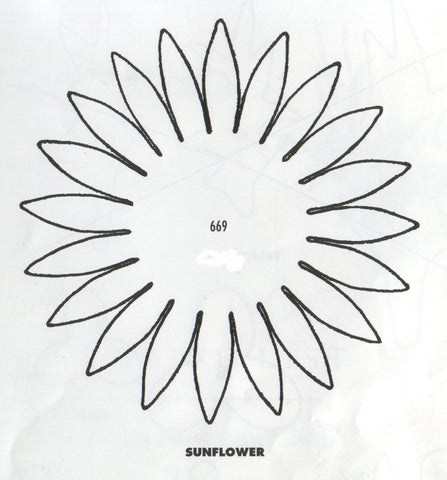 Sunflower 669 (100mm) Also useful for making Gerbera - TinkerTech Two Cutters