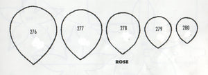 Rose Petals - set of 5 276 to 280 (37mm, 30mm, 25mm, 20mm, 15mm)  TinkerTech Two Cutters