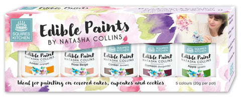 Paint - Squires Kitchen Edible Paint by Natasha Collins Set 3