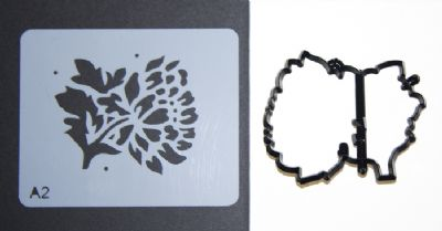 Chrysanthemum.  Patchwork Cutter and Stencil Set -