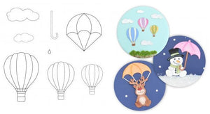 Patchwork Cutters - Hot Air Balloons