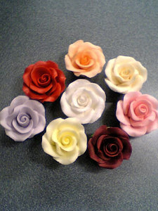 Sugar Flowers - Roses Hand Moulded - Medium. 35mm