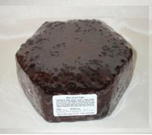 Ready to Ice Fruit Cakes - Hexagonal - 14""